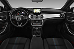 Stock photo of straight dashboard view of 2017 Mercedes Benz CLA-Class - 5 Door wagon Dashboard