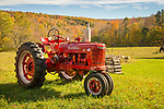 Tractor collection along Route 7 near East Dorset, VT.