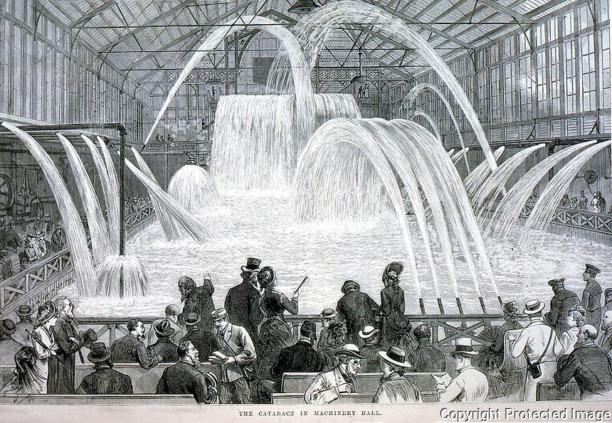 Utopia:  Centennial Exposition--Cataract in Machinery Hall.  Frank Leslie.  Photo '74.