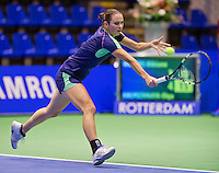 December 18, 2014, Rotterdam, Topsport Centrum, Lotto NK Tennis, Ladie's singles quarter final, Bibianne Weijers (NED)  <br /> Photo: Tennisimages/Henk Koster