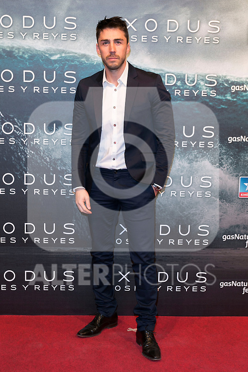 """Ruben Sanz attend the Premiere of the movie """"EXODUS: GODS AND KINGS"""" at callao Cinema in Madrid, Spain. December 4, 2014. (ALTERPHOTOS/Carlos Dafonte)"""