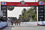 Mathieu van der Poel (NED) Alpecin-Fenix outsprints David Dekker (NED) Jumbo-Visma, Elia Viviani (ITA) Cofidis and Michael Mørkøv (DEN) Deceuninck-Quick Step to win Stage 1 of the 2021 UAE Tour the ADNOC Stage running 176km from Al Dhafra Castle to Al Mirfa, Abu Dhabi, UAE. 21st February 2021.  <br /> Picture: LaPresse/Gian Mattia D'Alberto | Cyclefile<br /> <br /> All photos usage must carry mandatory copyright credit (© Cyclefile | LaPresse/Gian Mattia D'Alberto)