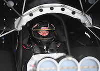 Apr. 27, 2012; Baytown, TX, USA: NHRA funny car driver Terry Haddock during qualifying for the Spring Nationals at Royal Purple Raceway. Mandatory Credit: Mark J. Rebilas-