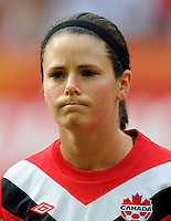 Diana Matheson of Canada during the FIFA Women's World Cup at the FIFA Stadium in Berlin, Germany on June 26th, 2011.