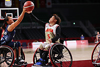 25th August 2021; Tokyo, Japan; Miki Hirai (JPN),  Wheelchair Basketball : Women's Preliminary Round Group A match between Japan - Great Britain<br /> during the Tokyo 2020 Paralympic Games at the Musashino Forest Sport Plaza in Tokyo, Japan.