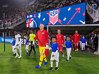 WASHINGTON, DC - OCTOBER 11: Brad Guzan #1 of the United States walks onto the field during a game between Cuba and USMNT at Audi Field on October 11, 2019 in Washington, DC.
