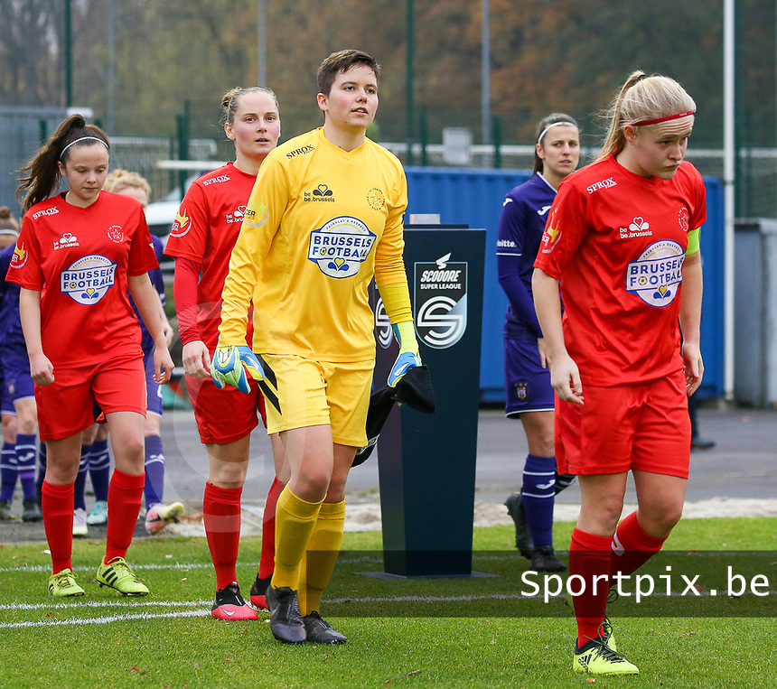 during a female soccer game between FC Femina WS Woluwe and RSC Anderlecht Women on the eight match day of the 2020 - 2021 season of Belgian Women's Super League , Sunday 22nd of November 2020  in Woluwe, Belgium . PHOTO SPORTPIX.BE | SPP | SEVIL OKTEM