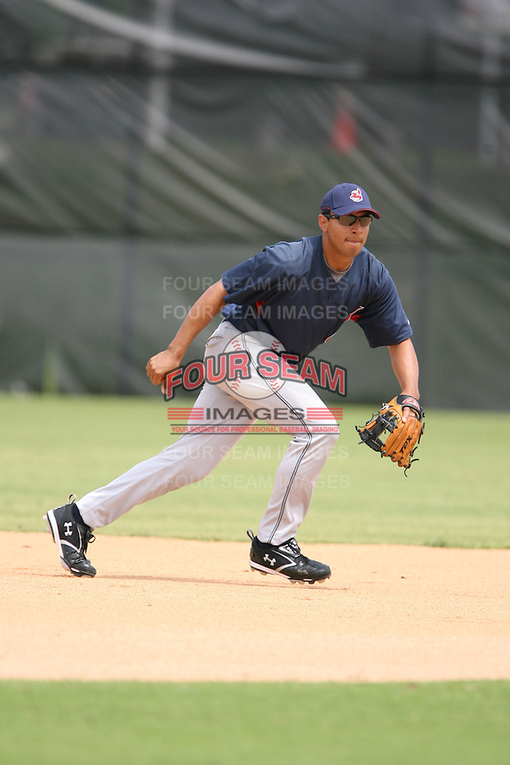 March 20th 2008:  Josh Rodriguez of the Cleveland Indians minor league system during Spring Training at Chain of Lakes Training Complex in Winter Haven, FL.  Photo by:  Mike Janes/Four Seam Images