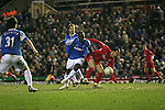 Birmingham City 0 Liverpool 7, 21/03/2006. St Andrews, FA Cup 6th Round. Birmingham City (blue) versus Liverpool,  The home side lost 0-7. Picture shows Liverpool's Luis Garcia battles for possession. Photo by Colin McPherson.
