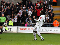 ATTENTION SPORTS PICTURE DESK<br /> Pictured: Jason Scotland of Swansea celebrating his equaliser from the penalty spot.<br /> Re: Coca Cola Championship, Swansea City FC v Doncaster Rovers at the Liberty Stadium. Swansea, south Wales, Saturday 21 February 2009<br /> Picture by D Legakis Photography / Athena Picture Agency, Swansea 07815441513