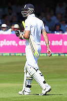 Kevin Pietersen of England leaves the field having been dismissed - Essex CCC vs England - LV Challenge Match at the Essex County Ground, Chelmsford - 30/06/13 - MANDATORY CREDIT: Gavin Ellis/TGSPHOTO - Self billing applies where appropriate - 0845 094 6026 - contact@tgsphoto.co.uk - NO UNPAID USE