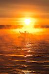 Seattle, sunrise, Puget Sound, fishing boat, Washington State,