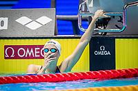 Boglarka Kapas of Hungary react after winning the women's 200m butterfly final during 18th Fina World Championships Gwangju 2019 at Nambu University Municipal Aquatics Centre, Gwangju, on 25  July 2019, Korea.  Photo by : Ike Li / Prezz Images