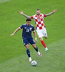 22.06.2021 Croatia v Scotland: Che Adams and Marcelo Brozovic
