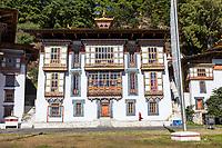 Bumthang, Bhutan.  Kurje Lhakhang Buddhist Temple and Monastery.