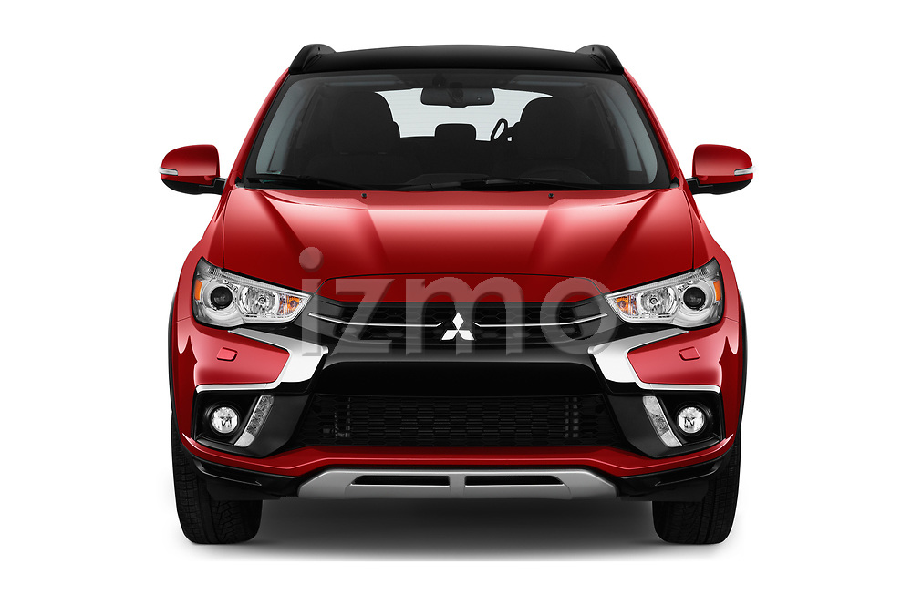 Car photography straight front view of a 2019 Mitsubishi ASX Instyle 5 Door SUV Front View