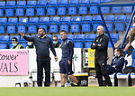 St Johnstone v Rangers…11.09.21  McDiarmid Park    SPFL<br />Saints manager Callum Davidson<br />Picture by Graeme Hart.<br />Copyright Perthshire Picture Agency<br />Tel: 01738 623350  Mobile: 07990 594431