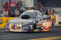 Nov. 10, 2011; Pomona, CA, USA; NHRA funny car driver Matt Hagan during qualifying at the Auto Club Finals at Auto Club Raceway at Pomona. Mandatory Credit: Mark J. Rebilas-.