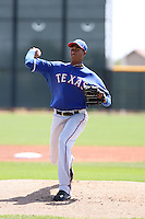 Alexi Ogando - Texas Rangers, 2010 minor league spring training..Photo by:  Bill Mitchell/Four Seam Images.