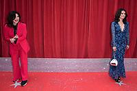 Sally Dexter and Fleur Kieth<br /> arriving for the British Soap Awards 2018 at the Hackney Empire, London<br /> <br /> ©Ash Knotek  D3405  02/06/2018