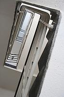 Asie/Israel/Tel-Aviv-Jaffa: détail escalier d'un immeuble Bauhaus sur Yael Street
