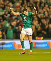 Saturday 17th November 2018 | Ireland vs New Zealand<br /> <br /> Jacob Stockdale at the final whistle during 2018 Guinness Series between Ireland and Argentina at the Aviva Stadium, Lansdowne Road, Dublin, Ireland. Photo by John Dickson / DICKSONDIGITAL