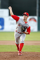 Williamsport Crosscutters pitcher Cody Fick #21 during the second game of a doubleheader against the Batavia Muckdogs at Dwyer Stadium on August 23, 2011 in Batavia, New York.  Batavia defeated Williamsport 2-1.  (Mike Janes/Four Seam Images)