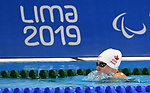 Clemence Pare competes in the para swimming  at the 2019 ParaPan American Games in Lima, Peru-27aug2019-Photo Scott Grant