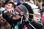 © Joel Goodman - 07973 332324 . 11/06/2016 . Manchester , UK . Crowds watching Soul II Soul on the main stage at the Parklife music festival at Heaton Park in Manchester . Photo credit : Joel Goodman