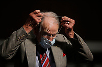 United States Senator Chuck Grassley (Republican of Iowa), puts on a face mask during a US Senate Judiciary Committee business meeting to consider authorization for subpoenas relating to the Crossfire Hurricane investigation, and other matters on Capitol Hill in Washington, Thursday, June 11, 2020.<br /> Credit: Carolyn Kaster / Pool via CNP/AdMedia