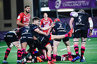 16th October 2020, Stade Maurice David, Aix-en-Provence, France;  Challenge Cup Rugby Final Bristol Bears versus RC Toulon;  Harry Randall (Bristol Bears) box kick