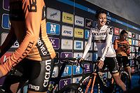 Portugese National Champion Daniela Reis (POR/Ciclotel) pre race<br /> <br /> ©kramon<br /> 12th Women's Omloop Het Nieuwsblad 2020 (BEL)<br /> Women's Elite Race <br /> Gent – Ninove: 123km<br /> <br /> ©kramon