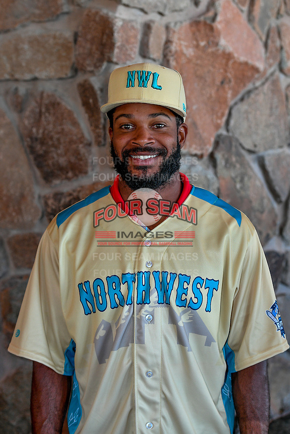 Ashford Fulmer (1) of the Salem-Keizer Volcanoes and the Northwest League All-Stars poses for a photo during activities before the 2nd Annual Northwest League-Pioneer League All-Star Game at Snowbasin Resort on August 1, 2016 in Ogden, Utah. (Stephen Smith/Four Seam Images)