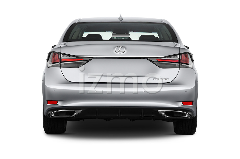 Straight rear view of 2016 Lexus GS 350 4 Door Sedan Rear View  stock images