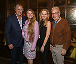 Stewart f. Lane, Bonnie Comley, Janet Kagan and Howard Kagan attends the Drama League's directing fellows dinner at the Bond 45 on May 16, 2018 in New York City.