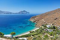 Levressos beach of Amorgos island in Cyclades, Greece