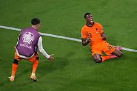 AMSTERDAM, 13-06-2021 Johan Cruyff Arena, Group stage of EURO2020 between Netherlands and Ukraine.  Netherlands player Denzel Dumfries celebrating the 3-2<br /> Photo Pro Shots / Insidefoto <br /> ITALY ONLY