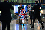 © Joel Goodman - 07973 332324 . 05/10/2016 . Birmingham , UK . Delegates at the ICC on the morning of the fourth and final day of the Conservative Party Conference at the International Convention Centre in Birmingham . Photo credit : Joel Goodman