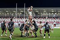 26 February 2021; Kieran Treadwell during the Guinness PRO14 match between Ulster and Ospreys at Kingspan Stadium in Belfast. Photo by John Dickson/Dicksondigital