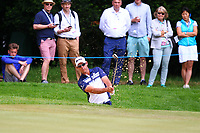 Jaco Van Zyl chips out of a bunker on the 1st green during the BMW PGA Golf Championship at Wentworth Golf Course, Wentworth Drive, Virginia Water, England on 27 May 2017. Photo by Steve McCarthy/PRiME Media Images.