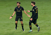 22nd December 2020, Orlando, Florida, USA;  LAFC Diego Rossi scores the first goal of the game and celebrates during the Concacaf Champions League Final between the LAFC and Tigres on December 22, 2020 at Explorer Stadium in Orlando, FL.