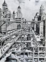 H. W. Corbett:  Traffic Segregation.  SCIENTIFIC AMERICAN,  Cover, 1913.