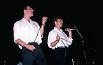 Andy McCluskey, Paul Humphreys, Orchestral Manoeuvres in the Dark (OMD) Aug 1985