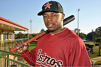 Feb 25, 2010; Kissimmee, FL, USA; The Houston Astros outfielder Jason Bourgeois (11) during photoday at Osceola County Stadium. Mandatory Credit: Tomasso De Rosa/ Four Seam Images
