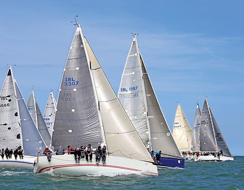 Cruiser-Racer action in the Volvo Dun Laoghaire Regatta – this year, their Regatta will be the long weekend of July 8th to 11th. Photo: Afloat.ie/David O'Brien