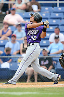 July 7th 2008:  Shortstop Josh Rodriguez of the Akron Aeros, Class-AA affiliate of the Cleveland Indians, during a game at NYSEG Stadium in Binghamton, NY.  Photo by:  Mike Janes/Four Seam Images
