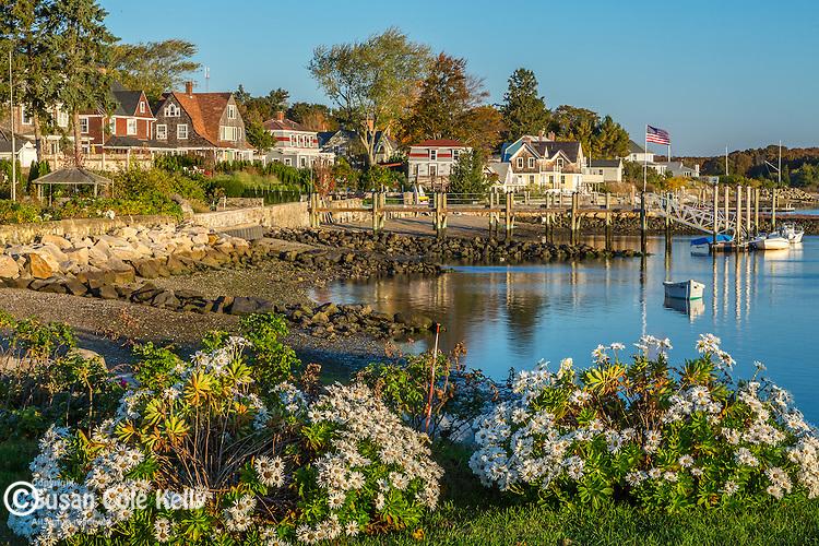 An autumn morning in Wickford, Rhode Island, USA