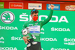Fabio Jakobsen (NED) Deceuninck Quick-Step retains the points Green Jersey at the end of Stage 12 of La Vuelta d'Espana 2021, running 175km from Jaén to Córdoba, Spain. 26th August 2021.     <br /> Picture: Luis Angel Gomez/Photogomezsport   Cyclefile<br /> <br /> All photos usage must carry mandatory copyright credit (© Cyclefile   Luis Angel Gomez/Photogomezsport)