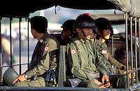© Dermot Tatlow / Panos Pictures..BURMA..Burmese Army troops.