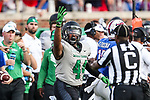 North Texas Mean Green fullback Cannon Maki (44) in action during the game between the North Texas Mean Green and the SMU Mustangs at the Gerald J. Ford Stadium in Fort Worth, Texas.